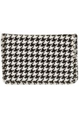 Topshop Dogtooth Card Holder in Black (monochrome) - Lyst