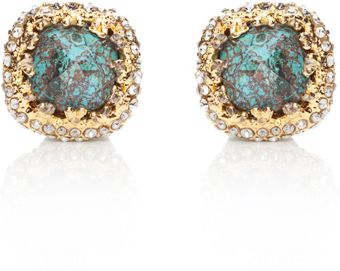 Alexis Bittar Mauritius Chrysocolla Cushion Earrings - Lyst