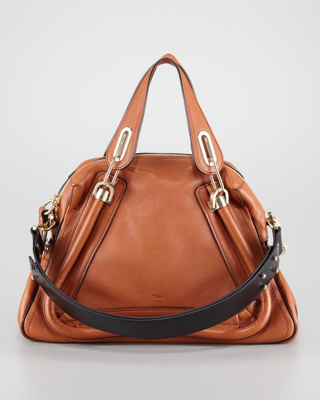 Chlo¨¦ Paraty Military Shoulder Bag Medium in Brown (armegnac) | Lyst