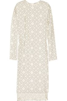 Marni Printed Silk Twill Shift Dress - Lyst