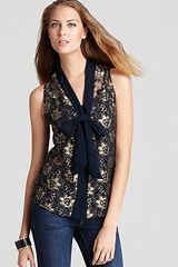 Sam & Lavi Irena Metallic Lace Tank with Slip - Lyst