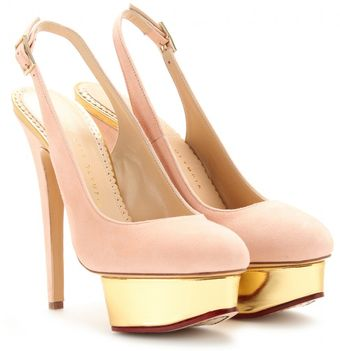 Charlotte Olympia Dolly Sling Backs - Lyst