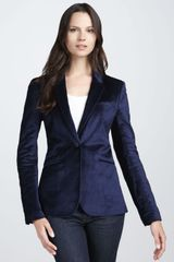 Elizabeth And James Velvet Blazer - Lyst