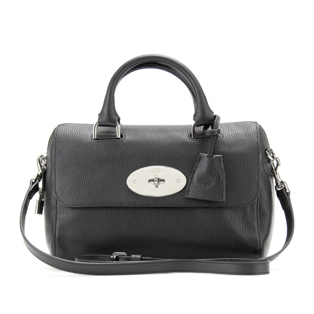 b89e96edf02e Mulberry Small Del Rey Leather Shoulder Bag in Black - Lyst