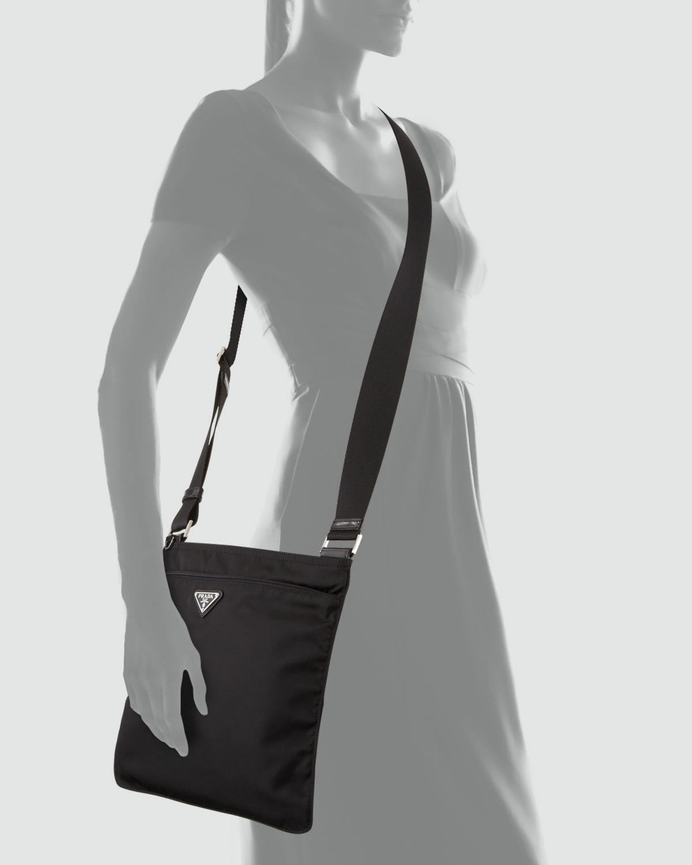 bcaa1cb49dcf Lyst - Prada Vela Large Crossbody Messenger Bag Nero in Black for Men