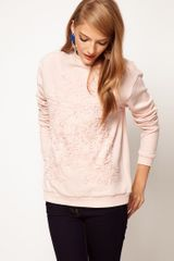 ASOS Collection Asos Pretty Applique Sweatshirt - Lyst