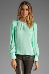 BCBGMAXAZRIA Key Hole Blouse - Lyst