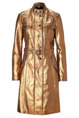 Burberry Vintage Gold Lambskin Worsham Coat