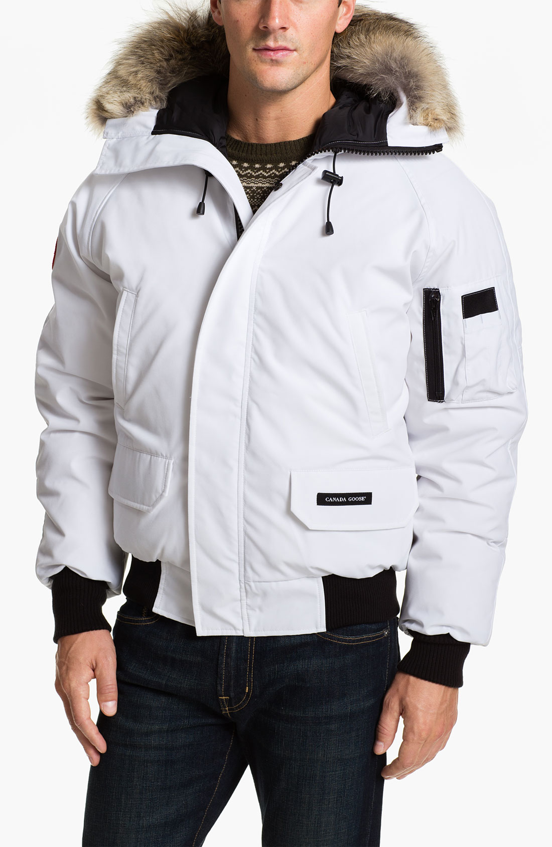 canada goose jacket mens white
