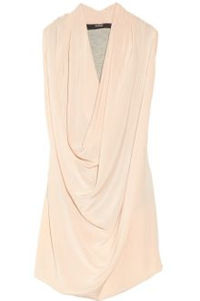 Cut25 Washedsilk Crepe De Chine and Jersey Top - Lyst
