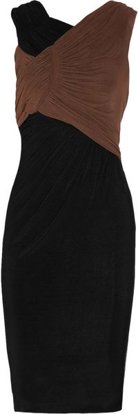 Donna Karan New York Twotone Jerseygauze Dress - Lyst