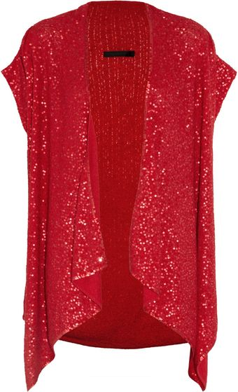 Donna Karan New York Sequined Pointelle Cashmereblend Cardigan - Lyst