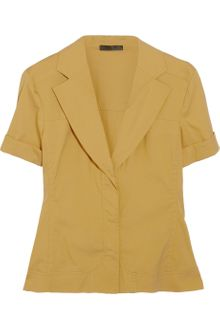 Donna Karan New York Stretch Cotton-Blend Shirt - Lyst