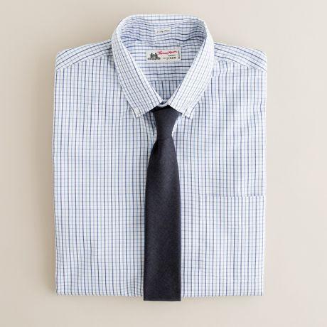 Thomas Mason Fabric Button Down Dress Shirt In
