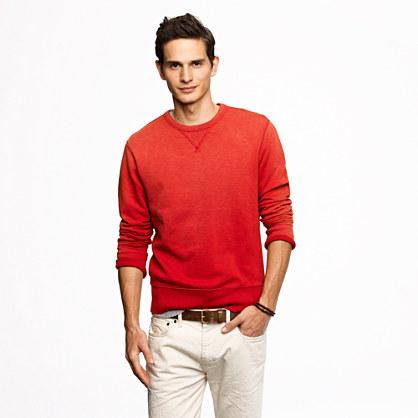 J.crew Sunwashed Fleece Sweatshirt in Red for Men | Lyst