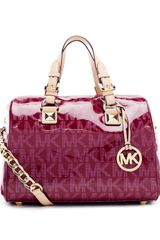 Michael by Michael Kors Medium Logo Satchel with Strap - Lyst