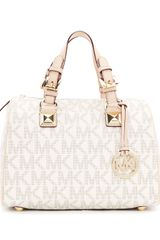 Michael by Michael Kors Medium Grayson Logo Satchel - Lyst