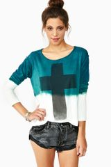 Nasty Gal Dip Dye Cross Tee