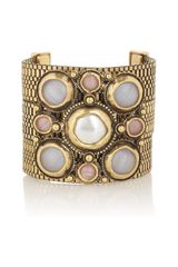 Oscar de la Renta 24karat Goldplated Glass Pearl and Resin Bracelet - Lyst