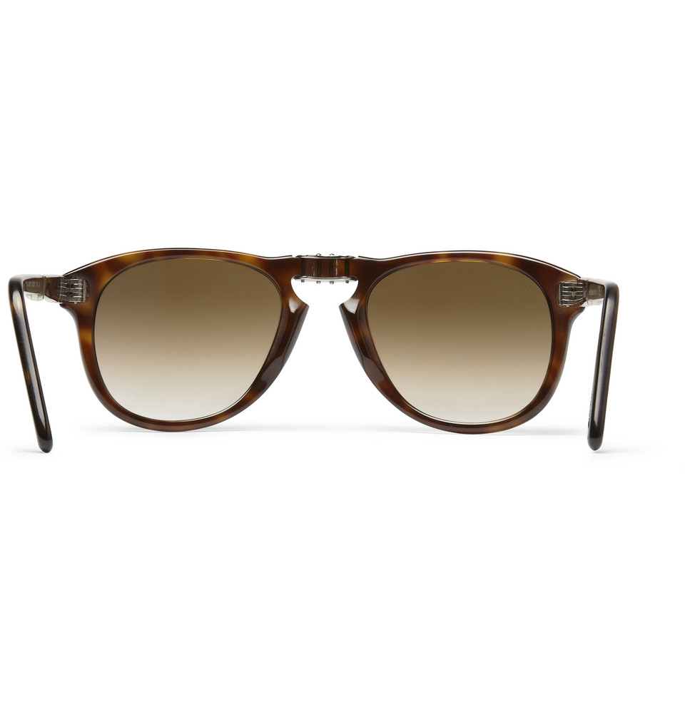 bc1047a8b3 Persol Foldable 714 52 Polarised Sunglasses in Brown for Men - Lyst