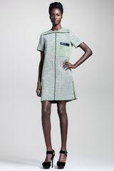 Proenza Schouler Basketweave Tweed Shift Dress - Lyst