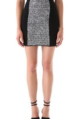 Alexander Wang Rubberized Tweed Mini Skirt - Lyst