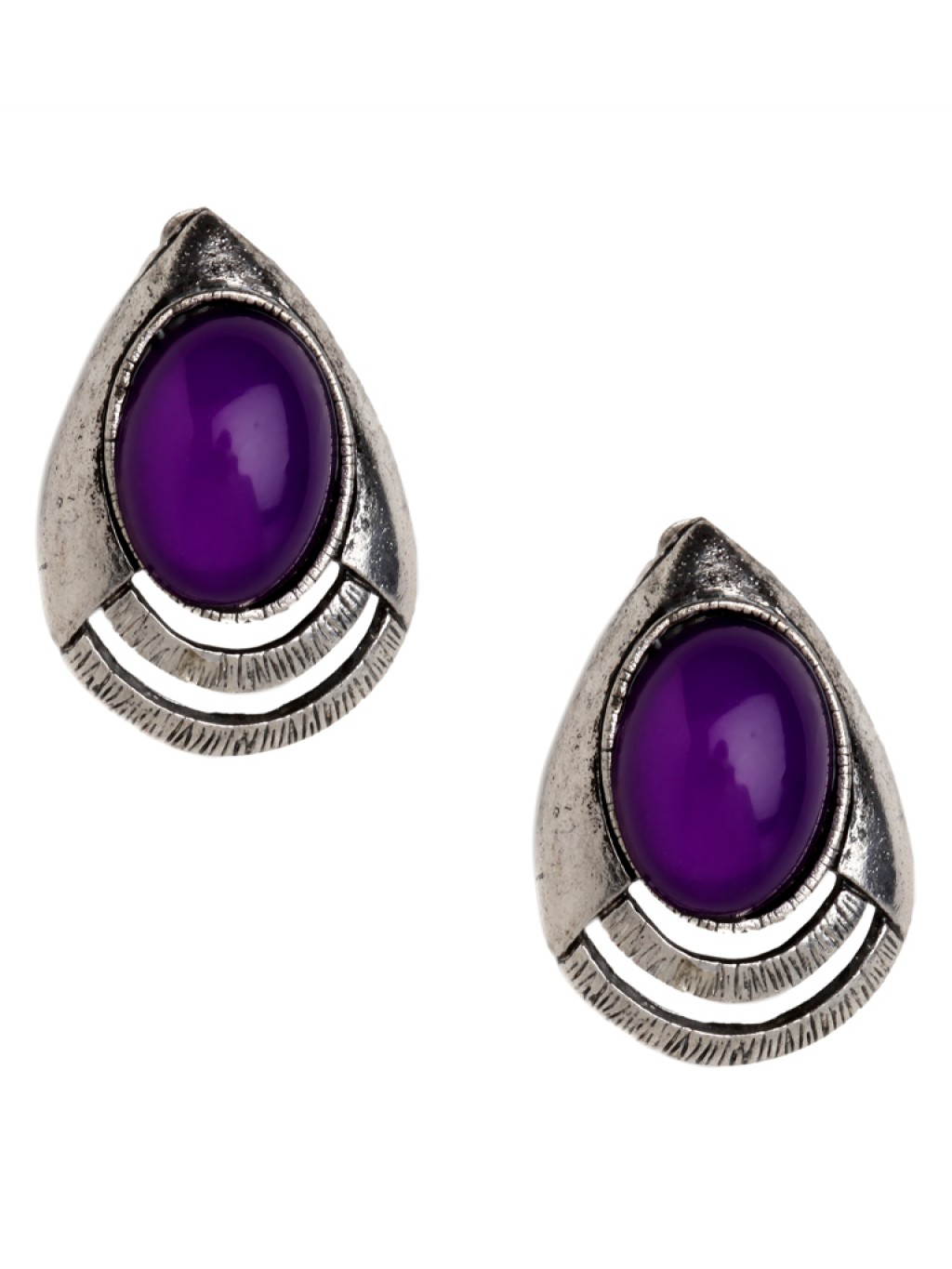 Lyst Baublebar Violet Talon Studs In Purple