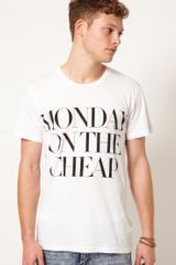 Cheap Monday Bruce Printed Tshirt - Lyst