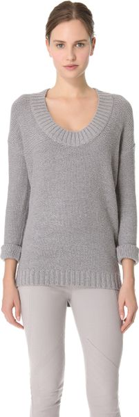 Donna Karan New York Alpaca Sweater in Gray