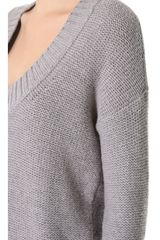 Donna Karan New York Alpaca Sweater in Gray - Lyst