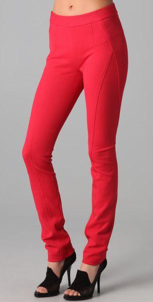 Donna Karan New York Back Zip Pants in Red