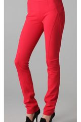 Donna Karan New York Back Zip Pants in Red - Lyst