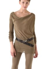 Donna Karan New York Long Sleeve Sweater - Lyst