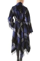 Donna Karan New York Blanket Coat in Blue (navy) - Lyst