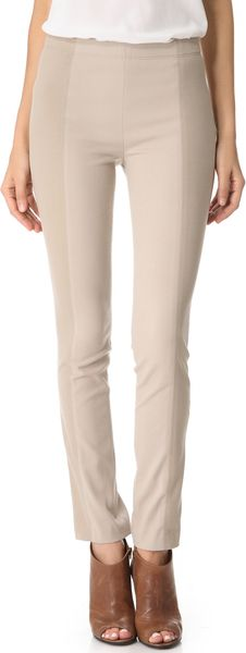 Donna Karan New York Slubbed Jersey Leggings - Lyst