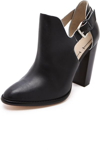 Elizabeth And James Suri Cutout Booties in Black - Lyst
