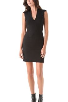 Helmut Lang Seamed Zip Back Dress - Lyst