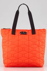 Kate Spade Signature Spade Quilted Bon Shopper Bag - Lyst