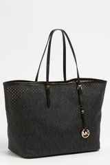 Michael by Michael Kors Signature Medium Perforated Tote - Lyst