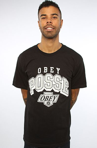 Obey The Losreyes Basic Tee  in Black for Men - Lyst