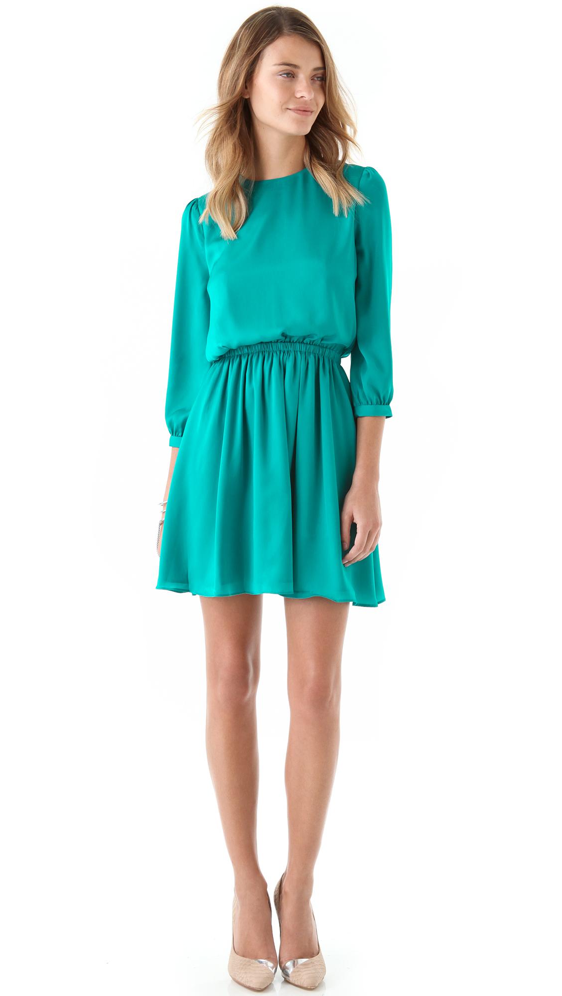 Pencey Open Back Dress In Green Aqua Lyst