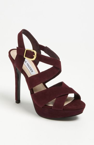 Steve Madden Tarrrah Pump in Brown (burgundy multi) - Lyst
