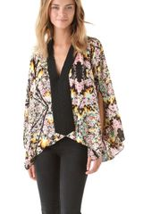 Tbags Los Angeles Draped Print Top - Lyst