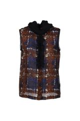 Tory Burch Sleeveless Shirt - Lyst