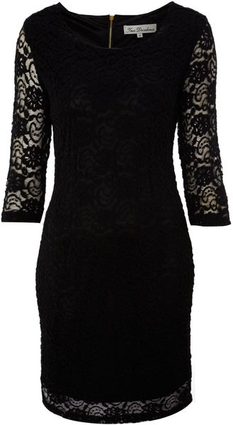 True Decadence Luxe Lace Layer Dress - Lyst