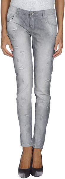 Twin-set Simona Barbieri Denim Pants - Lyst