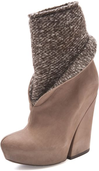 Vic Matie' Mixed Platform Booties - Lyst