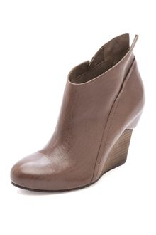Vic Matie' Slanted Wedge Booties - Lyst