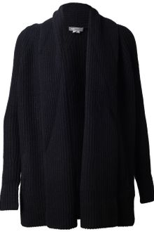 Vince Ribbed Yak Wool Cardigan - Lyst