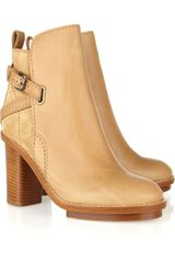 Acne Cypress Leather and Suede Ankle Boots - Lyst